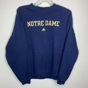 Adidas Mens XL Navy Blue Notre Dame Sweatshirt